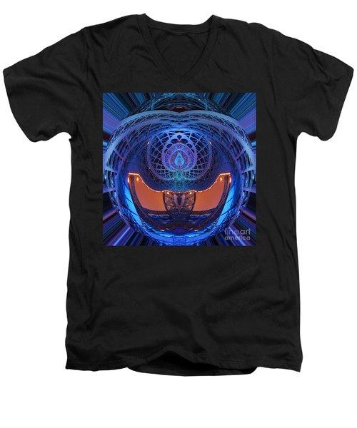 Spirograph Planet Men's V-Neck T-Shirt