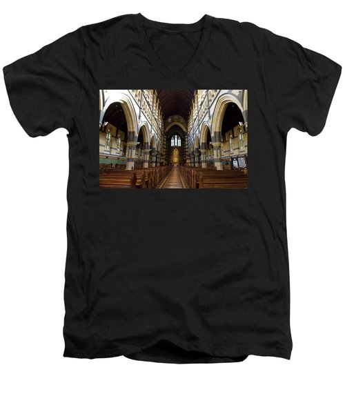 Men's V-Neck T-Shirt featuring the photograph St Pauls Cathedral by Yew Kwang