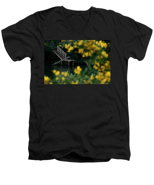 Men's V-Neck T-Shirt featuring the photograph Stairway To Heaven by Pedro Cardona