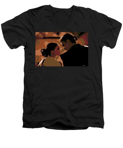 Star Crossed Lovers Men's V-Neck T-Shirt