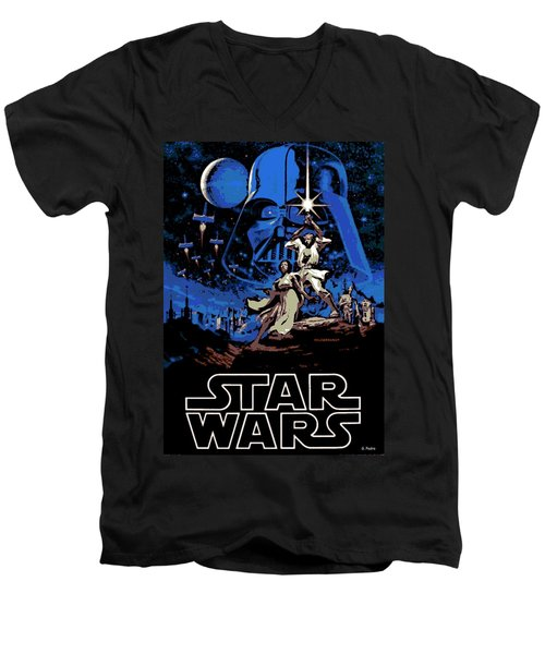 Star Wars Poster Men's V-Neck T-Shirt