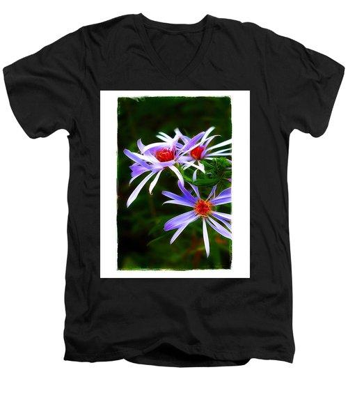 Stars Of Spring Men's V-Neck T-Shirt by Judi Bagwell