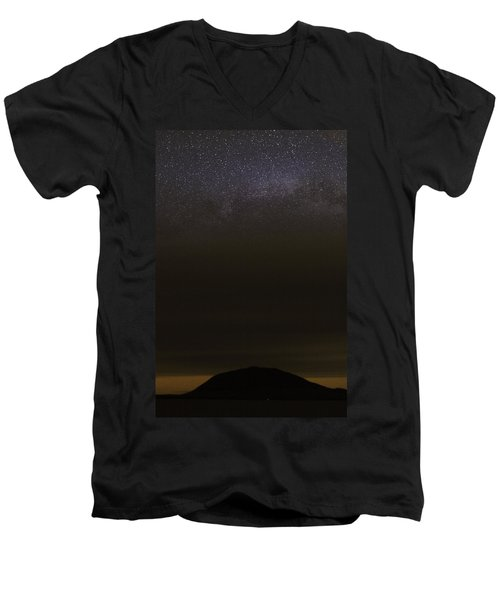 Stars Over Little Spencer Men's V-Neck T-Shirt by Brent L Ander