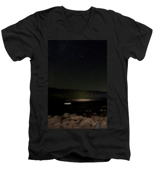 Stars Over Otter Cove Men's V-Neck T-Shirt by Brent L Ander