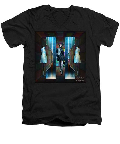 Steel Eyes Mannequin Men's V-Neck T-Shirt