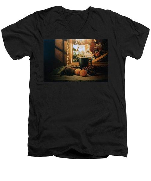 Still Life With Hopper Men's V-Neck T-Shirt by Patrick Anthony Pierson