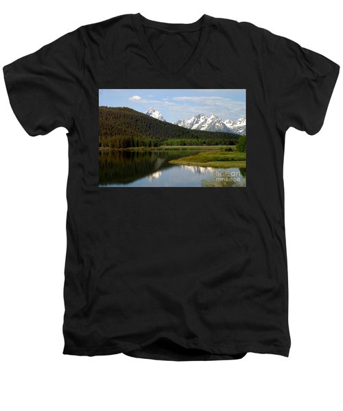 Men's V-Neck T-Shirt featuring the photograph Still Waters by Living Color Photography Lorraine Lynch