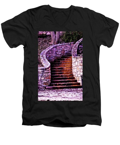Stone Staircase Men's V-Neck T-Shirt