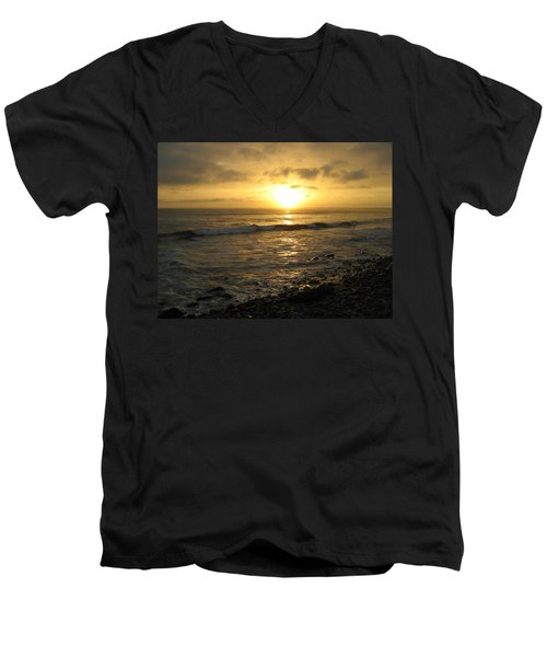 Men's V-Neck T-Shirt featuring the photograph Storm At Sea by Bruce Carpenter