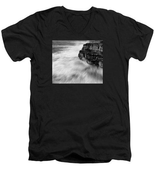 Men's V-Neck T-Shirt featuring the photograph Stormy Sea 1 by Pedro Cardona