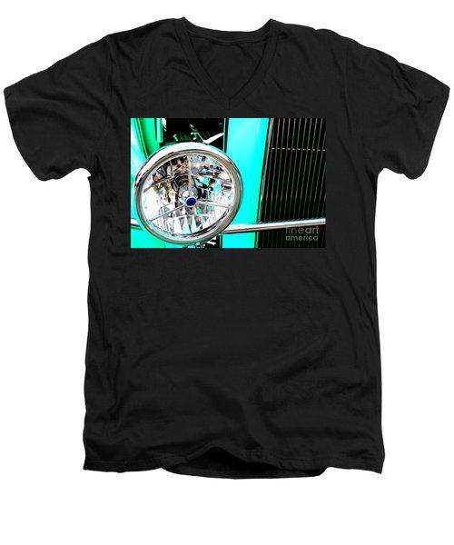 Men's V-Neck T-Shirt featuring the digital art Street Rod Beauty by Tony Cooper