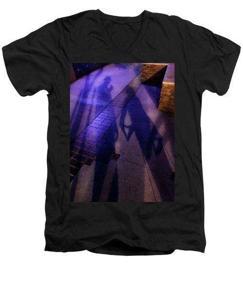 Street Shadows 004 Men's V-Neck T-Shirt by Lon Casler Bixby