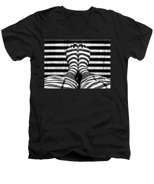 Stripe Socks? Men's V-Neck T-Shirt