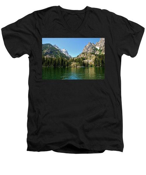 Summer Day At Jenny Lake Men's V-Neck T-Shirt