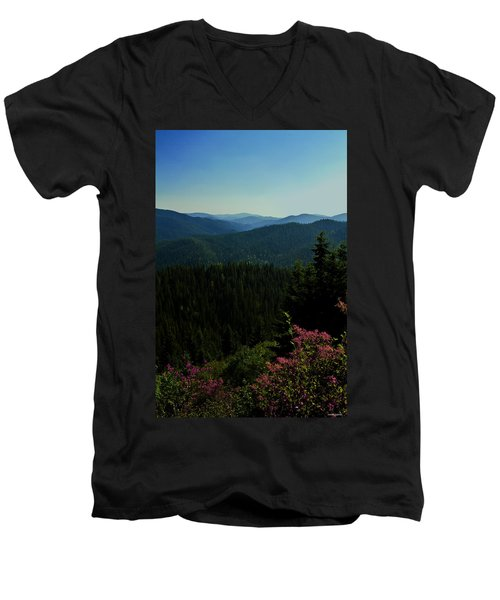 Summer In The Mountains Men's V-Neck T-Shirt