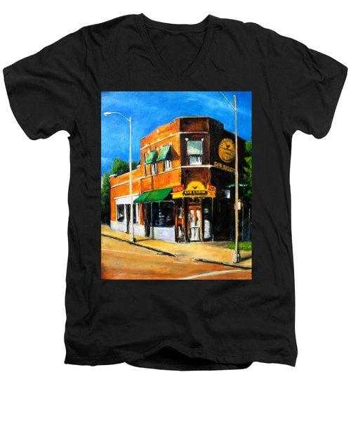 Sun Studio - Day Men's V-Neck T-Shirt