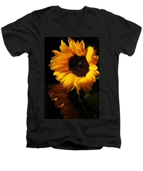 Sunflowers Men's V-Neck T-Shirt by Dorothy Cunningham