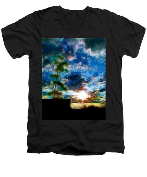 Sunrise Over Smithfield Men's V-Neck T-Shirt