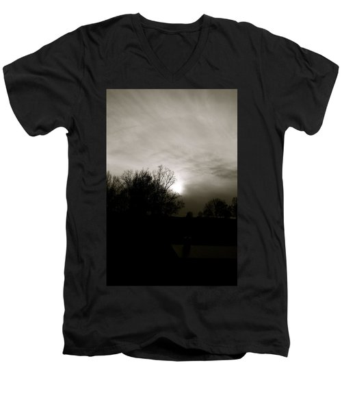 Men's V-Neck T-Shirt featuring the photograph Sunset by Kume Bryant