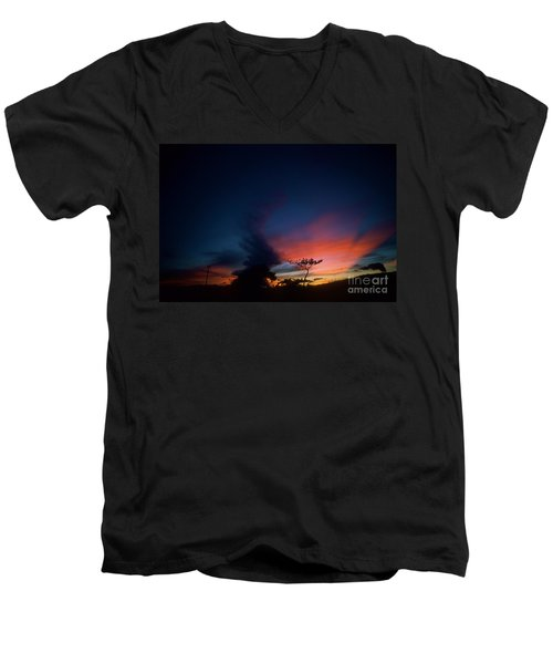 Sunset Leeward Oahu Men's V-Neck T-Shirt