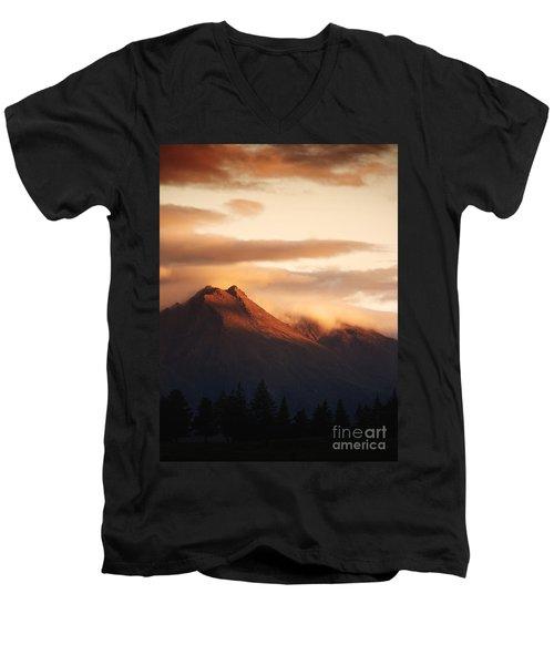 Sunset Mountain Men's V-Neck T-Shirt