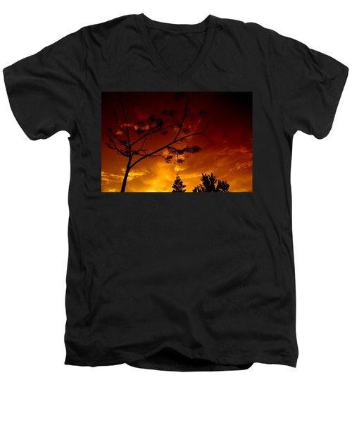 Sunset Over Florida Men's V-Neck T-Shirt