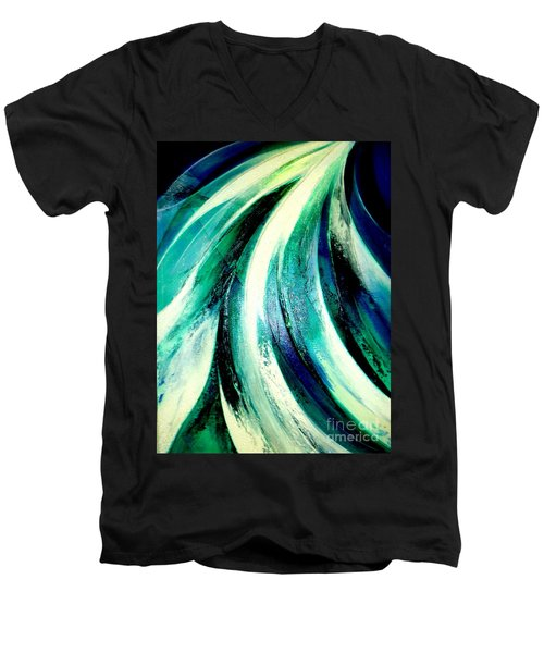 Sunshine In Waterfall Men's V-Neck T-Shirt