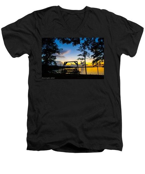 Swing Silhouette  Men's V-Neck T-Shirt by Shannon Harrington