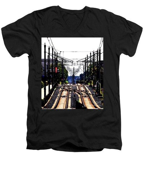 Switch Tracks Men's V-Neck T-Shirt