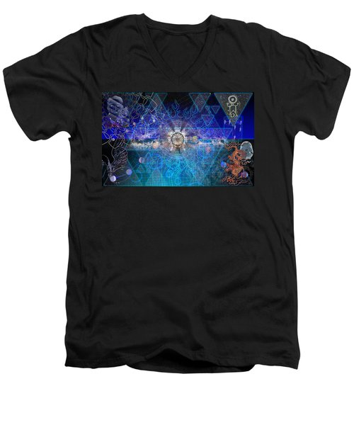 Synesthetic Dreamscape Men's V-Neck T-Shirt by Kenneth Armand Johnson