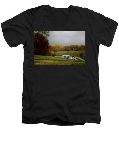 Men's V-Neck T-Shirt featuring the photograph Take A Deep Breath by EricaMaxine  Price