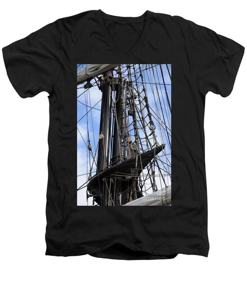 Tall Ship Mast Men's V-Neck T-Shirt