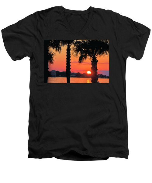 Men's V-Neck T-Shirt featuring the photograph Tangerine Dream by Jan Amiss Photography
