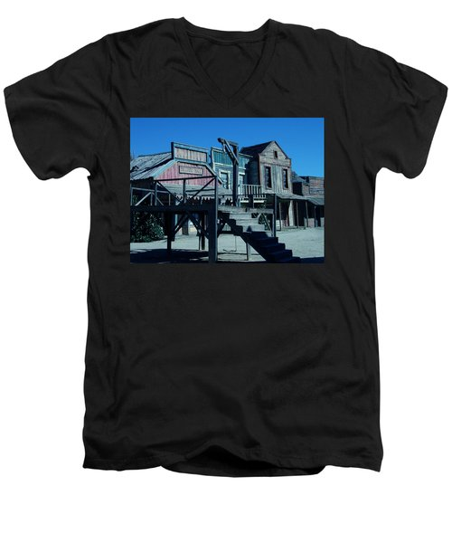 Taverna Western Village In Spain Men's V-Neck T-Shirt by Colette V Hera  Guggenheim