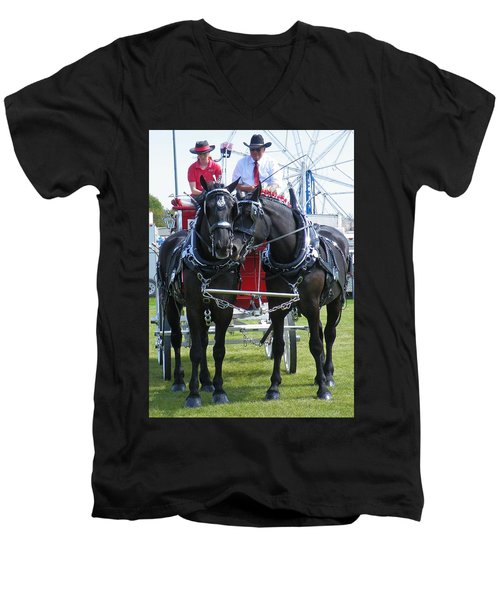 Men's V-Neck T-Shirt featuring the photograph Tender Moment by Davandra Cribbie