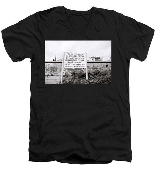 Berlin Wall American Sector Men's V-Neck T-Shirt