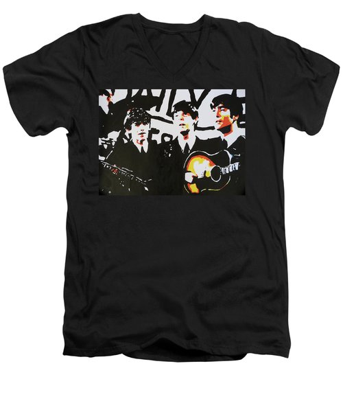 The Beatles Men's V-Neck T-Shirt