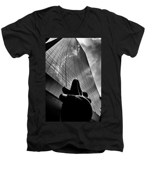 The Bull Never Sleeps Men's V-Neck T-Shirt