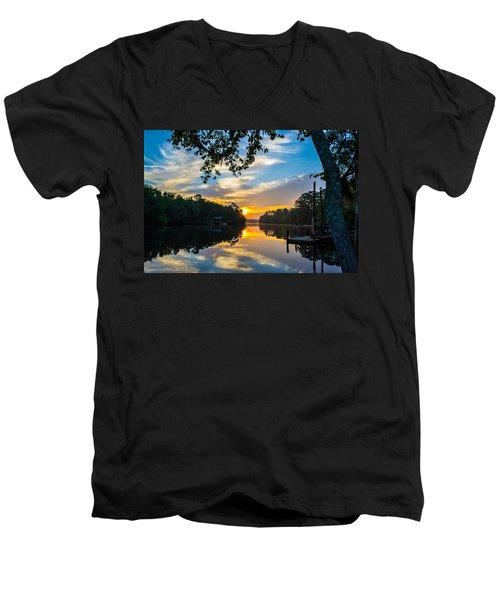 The Calm Place Men's V-Neck T-Shirt by Shannon Harrington