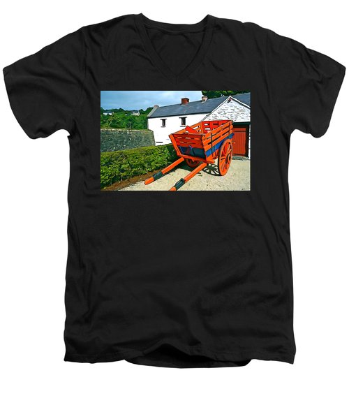 Men's V-Neck T-Shirt featuring the photograph The Cart by Charlie and Norma Brock