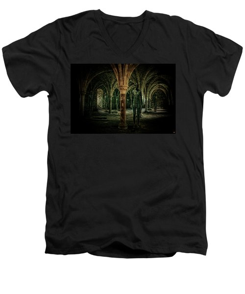 Men's V-Neck T-Shirt featuring the photograph The Crypt by Chris Lord