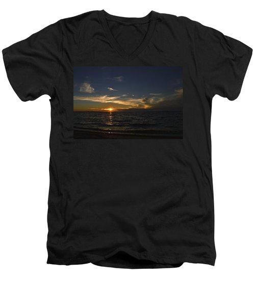 The Distance Between Men's V-Neck T-Shirt by Melanie Moraga