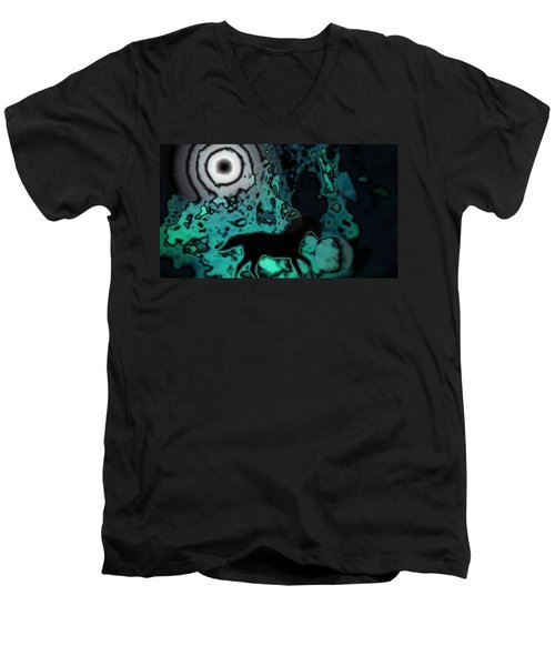 Men's V-Neck T-Shirt featuring the photograph The Eclipsed Horse by Jessica Shelton