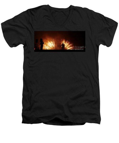 The Emergence Of The Devil Men's V-Neck T-Shirt