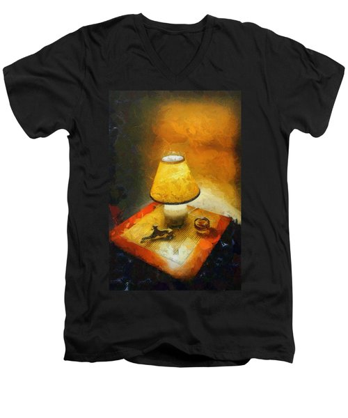 The Evening Lamp Men's V-Neck T-Shirt