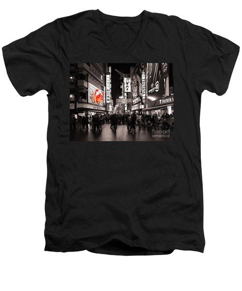The Giant Crab Men's V-Neck T-Shirt by Ari Salmela