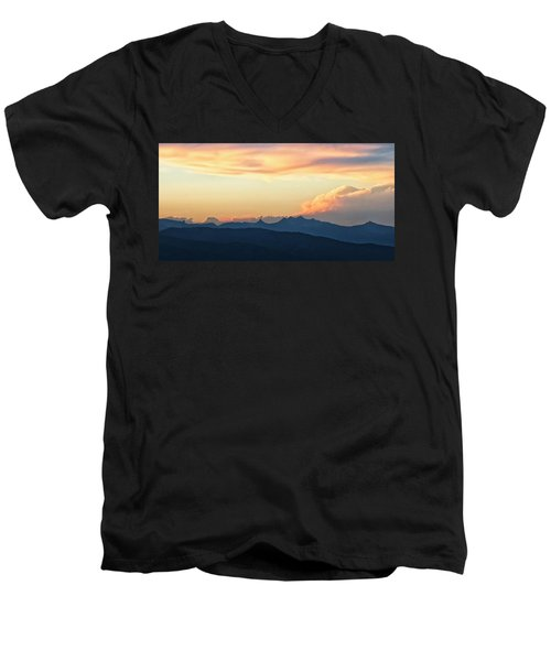 Men's V-Neck T-Shirt featuring the photograph The Idaho Selkirks by Albert Seger