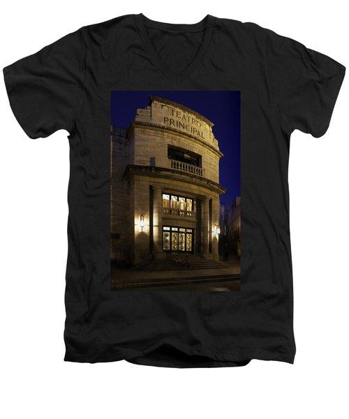 The Meeting Place Men's V-Neck T-Shirt by Lynn Palmer