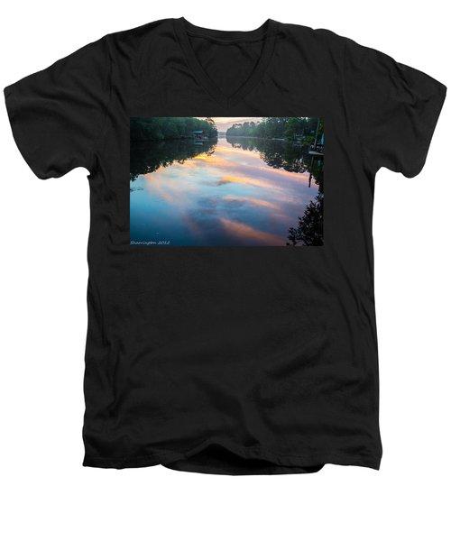 The Mirror Men's V-Neck T-Shirt by Shannon Harrington