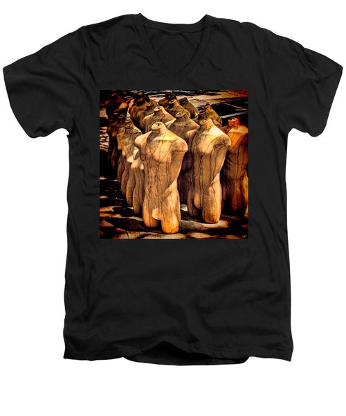 Men's V-Neck T-Shirt featuring the photograph The Protest by Chris Lord